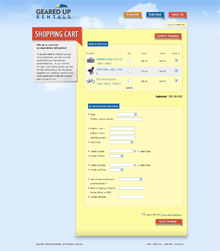 Custom Shopify Site - Cart